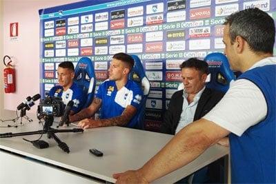 Pescara Calcio presentazione di Manaj e Biraghi