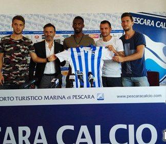 Pescara Calcio presentati Muric, Bahebeck, Pepe e Pettinari
