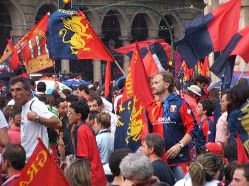 tifosi Genoa festa in A 2007
