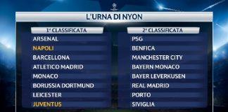 Champions League - Urna da brividi per Juventus e Napoli