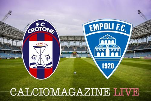 Crotone-Empoli, le dichiarazioni degli allenatori nel pre-partita