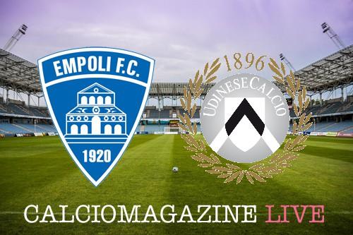 Empoli-Udinese, risultato cronaca e tabellino LIVE