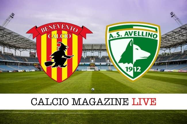 Benevento-Avellino cronaca e risultato in diretta della partita
