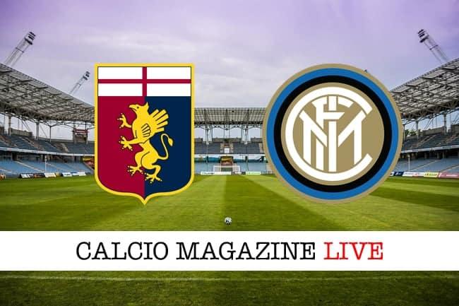 Genoa-Inter risultato in diretta, tabellino in tempo reale