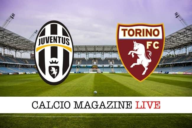 Juventus-Torino risultato e cronaca in tempo reale, tabellino live