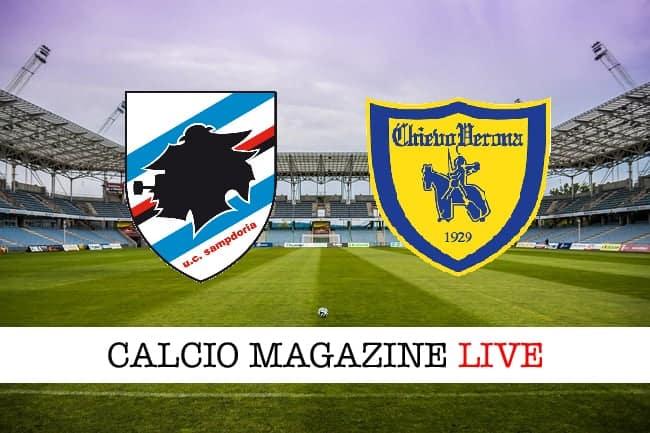 Sampdoria - ChievoVerona, le formazioni ufficiali