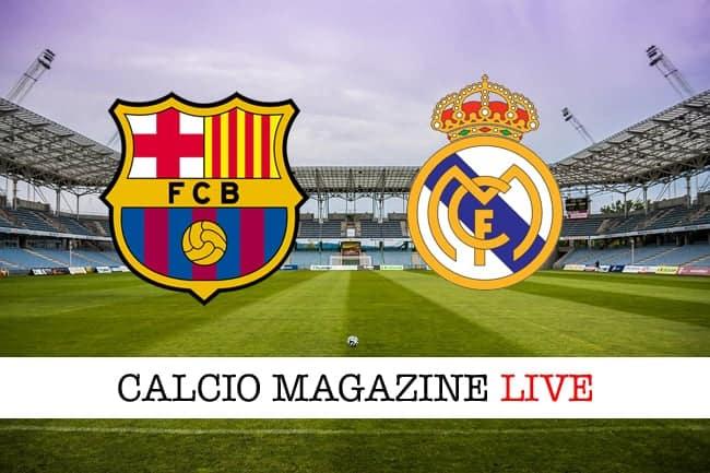 Supercoppa spagnola, Barcellona-Real Madrid: cronaca e risultato in tempo reale
