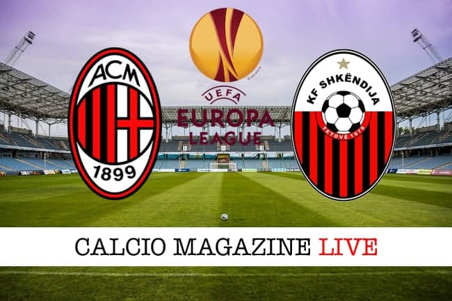 Europa League, Milan-Shkendija: risultato e tabellino in tempo reale