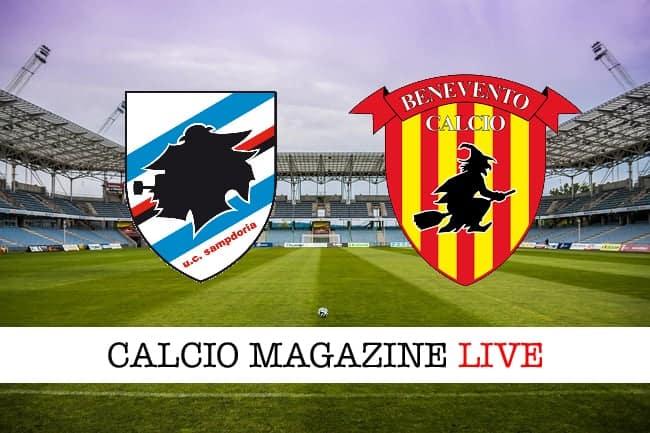Sampdoria-Benevento: risultato in diretta e tabellino della partita