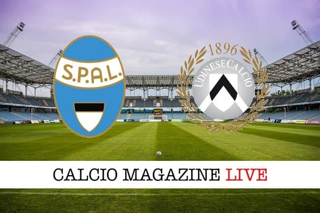 Spal Udinese cronaca diretta risultato in tempo reale