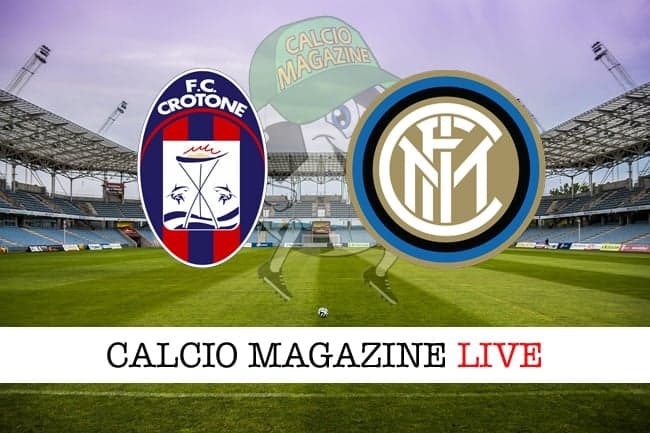 Serie A, Crotone-Inter: cronaca e risultato in tempo reale