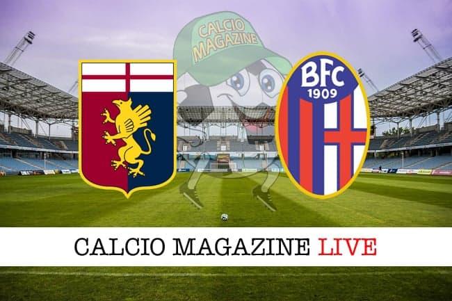 Genoa Bologna cronaca diretta live risultato live
