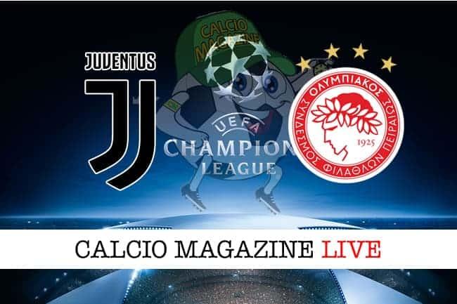 Juventus-Olympiakos: probabili formazioni, cronaca e risultato in diretta