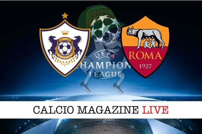 Qarabag-Roma 1-2, il tabellino: cronaca e risultato finale