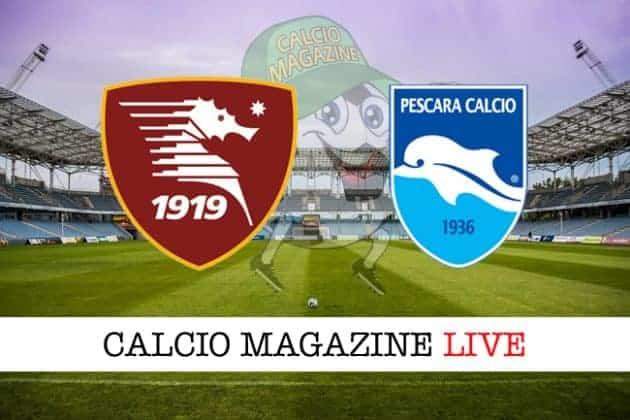 Salernitana Pescara cronaca diretta risultato tempo reale