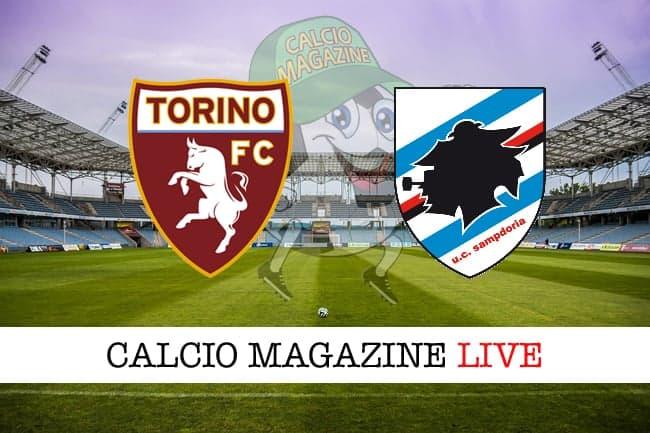Torino Sampdoria cronaca diretta live risultato tempo reale