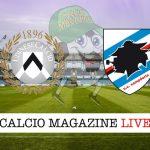 Udinese Sampdoria live tabellino risultato diretta