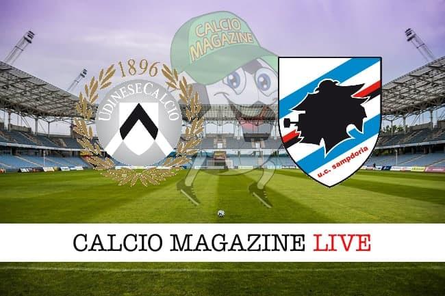 Udinese-Sampdoria probabili formazioni risultato e cronaca in tempo reale