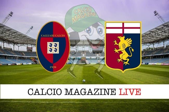 Cagliari Genoa cronaca diretta risultato in tempo reale