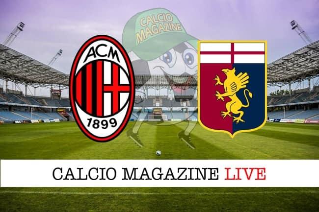 Milan Genoa cronaca diretta live risultato in tempo reale