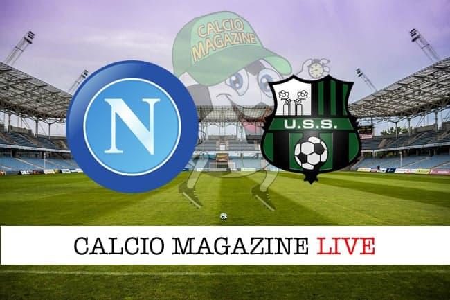 Napoli Sassuolo cronaca diretta risultato in tempo reale
