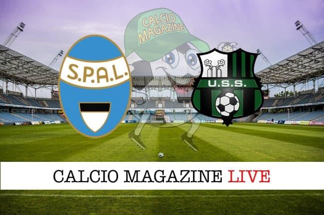 Spal Sassuolo live cronaca risultato tempo reale