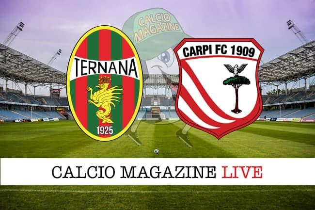 Ternana-Carpi live: cronaca e risultato in tempo reale