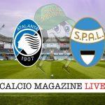 Atalanta Spal cronaca diretta live risultato in tempo reale