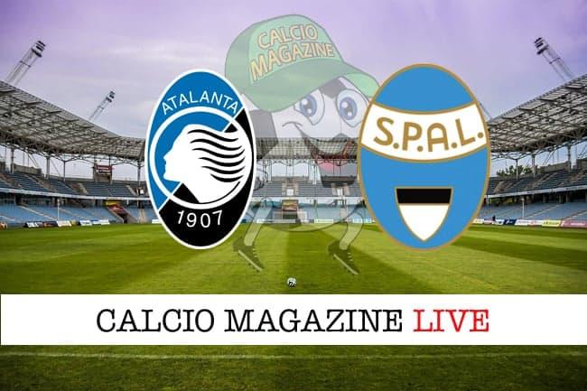 Atalanta -  Spal 2-1, il tabellino
