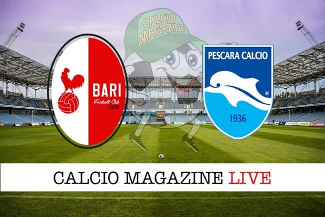 Bari-Pescara 1-0, il tabellino