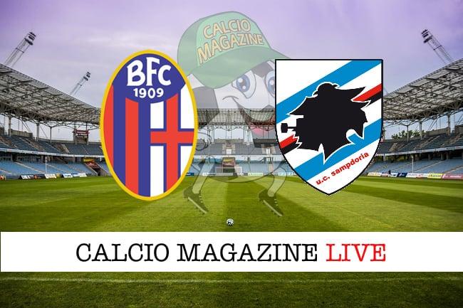 Bologna Sampdoria cronaca diretta live risultato in tempo reale