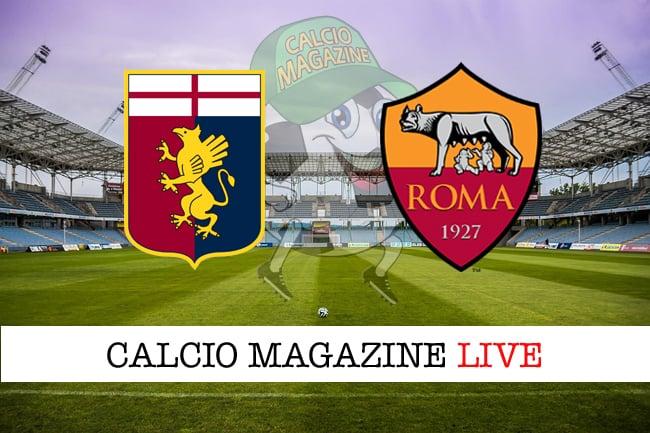 Genoa Roma cronaca diretta live risultato in tempo reale
