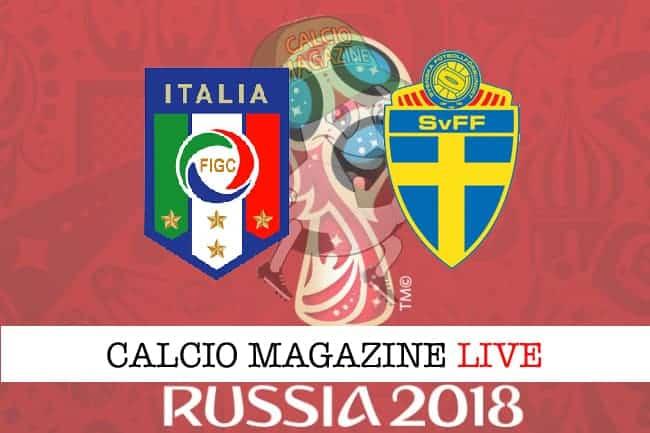 Italia-Svezia: cronaca e risultato in tempo reale