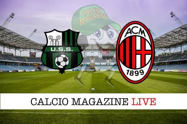 Sassuolo Milan cronaca diretta risultato tempo reale