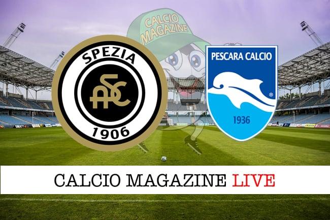 Spezia-Pescara 4-0, tabellino: cronaca minuto per minuto