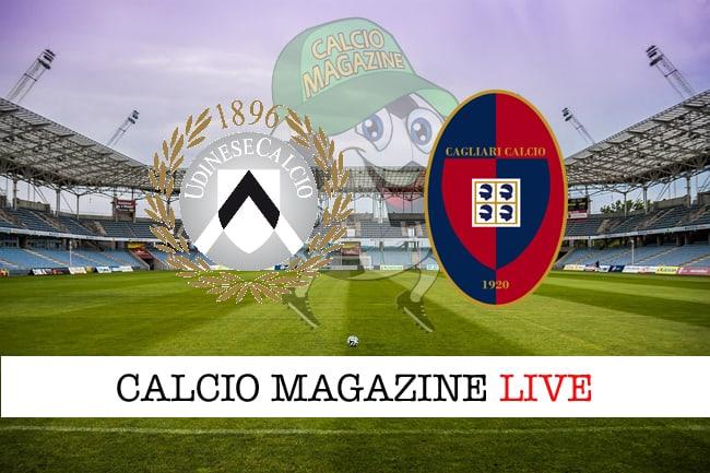 Udinese Cagliari cronaca diretta risultato in tempo reale