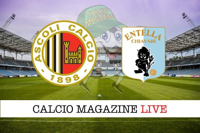 Ascoli-Virtus Entella diretta: risultato, tabellino live