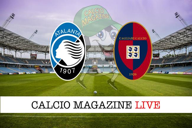 Atalanta Cagliari live tabellino cronaca diretta