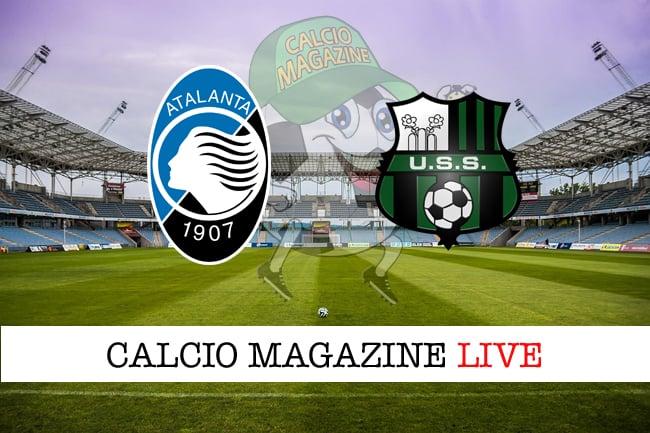 Atalanta Sassuolo cronaca diretta live risultato in tempo reale