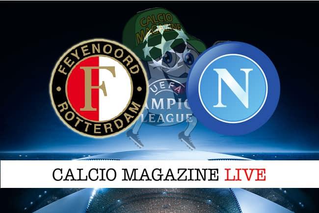 Feyenoord-Napoli cronaca diretta, risultato in tempo reale