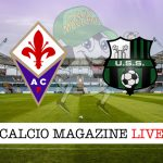 Fiorentina Sassuolo cronaca diretta live, risultato in tempo reale
