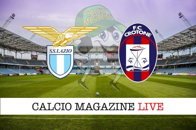 Lazio-Crotone cronaca diretta, risultato in tempo reale