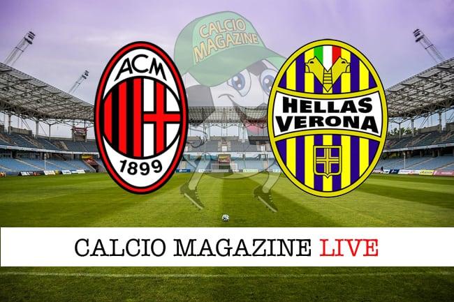 Milan-Verona cronaca diretta e risultato in tempo reale