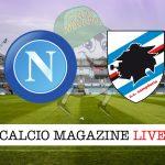 Napoli Sampdoria cronaca diretta live risultato in tempo reale