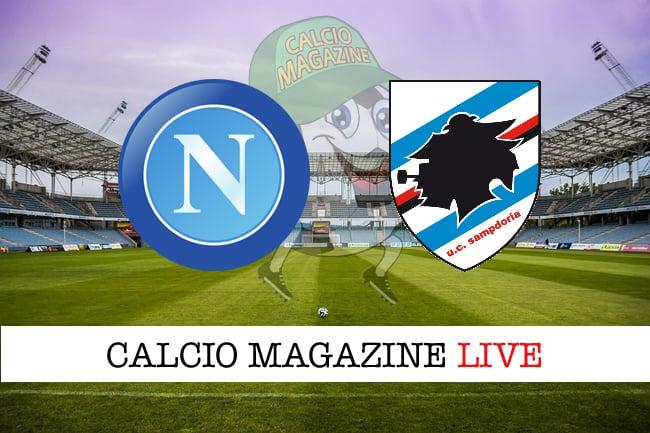 Napoli - Sampdoria 3-0, il tabellino