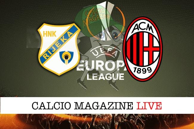 Rijeka-Milan 2-0, il tabellino: la cronaca del match