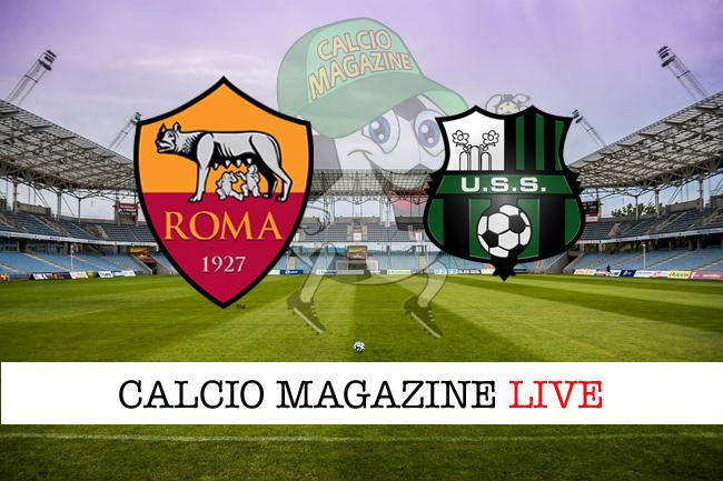 Roma Sassuolo cronaca diretta risultato in tempo reale