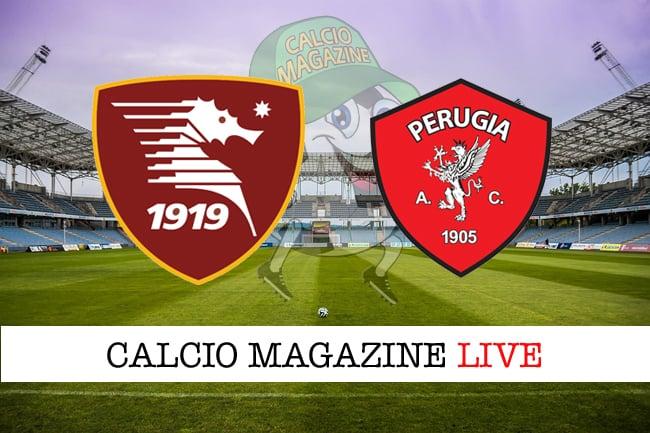 Salernitana-Perugia in diretta: tabellino e risultato live