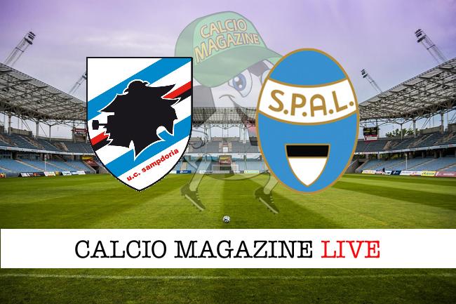 Sampdoria Spal cronaca diretta live risultato tempo reale
