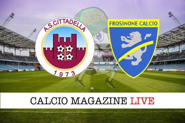 Cittadella Frosinone cronaca diretta risultato tempo reale playoff